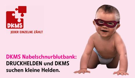 DDRUCKHELDEN und DKMS sucht kleine Helden